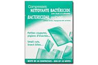 Compresses Nettoyantes Bactéricides