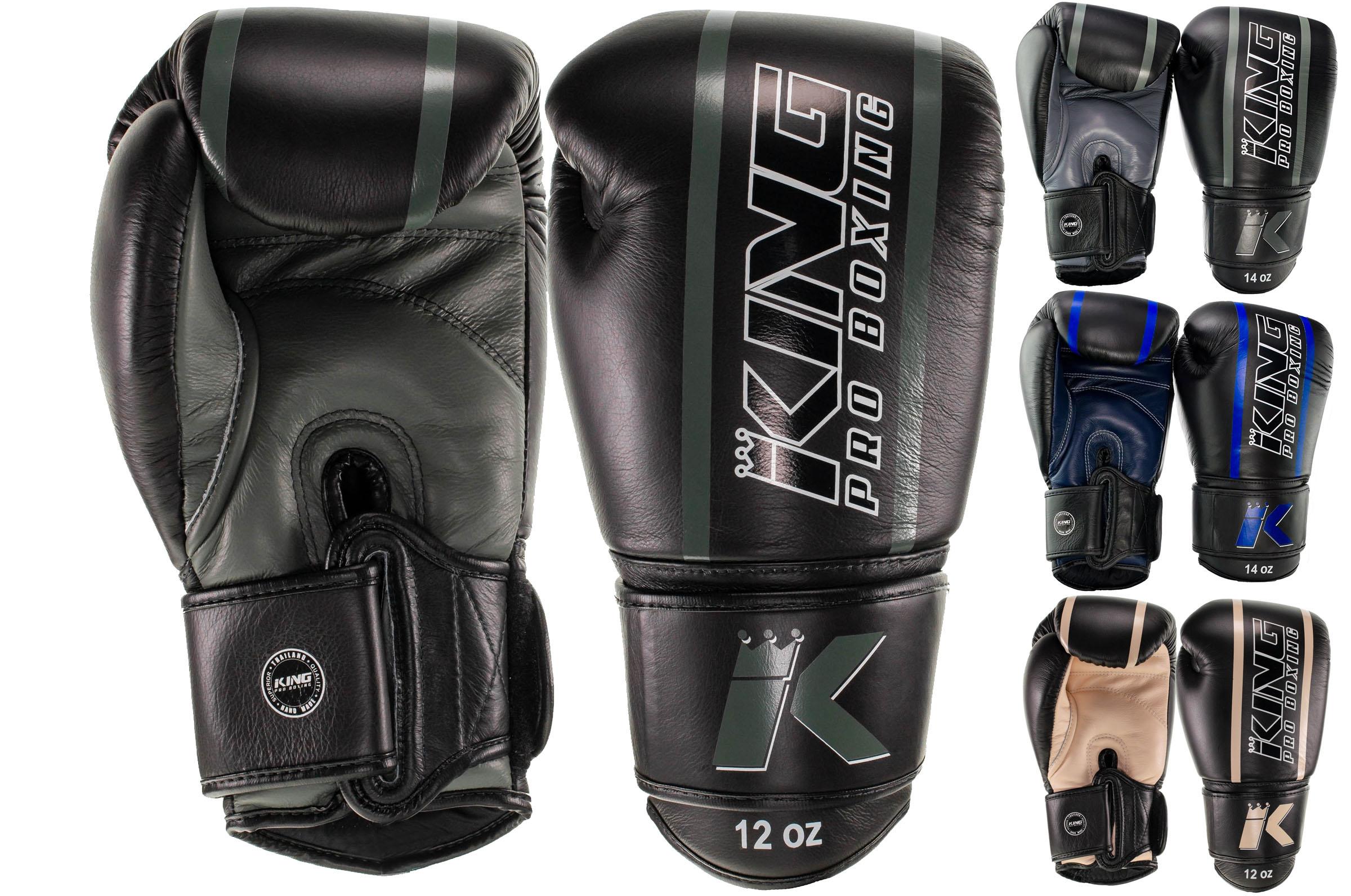 gants de boxe cuir elite king. Black Bedroom Furniture Sets. Home Design Ideas