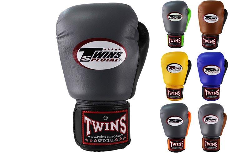 Guantes de boxeo de cuero retro twins - Gants de boxe vintage ...