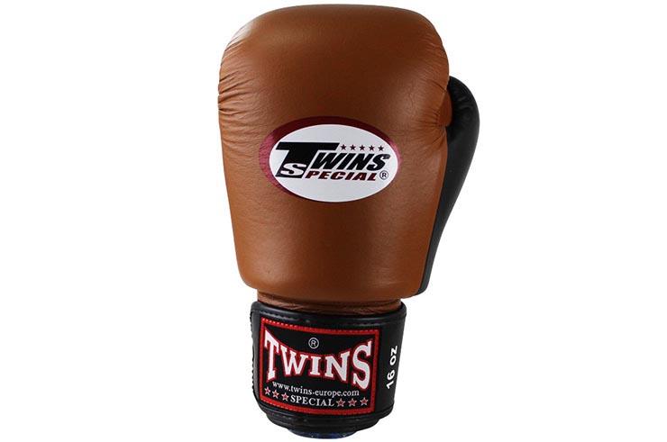 Gants de Boxe Cuir Retro BGVL, Twins