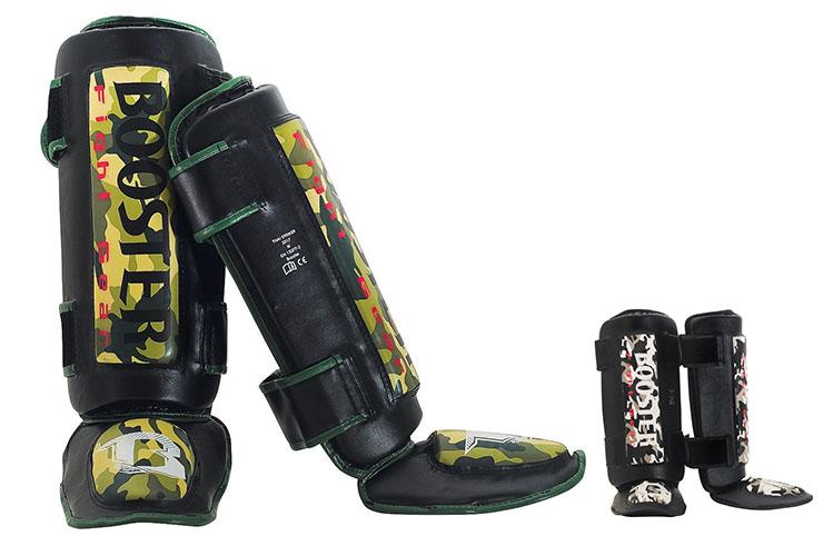 Espinilleras y Protector Pies - THAI STRIKER, Booster