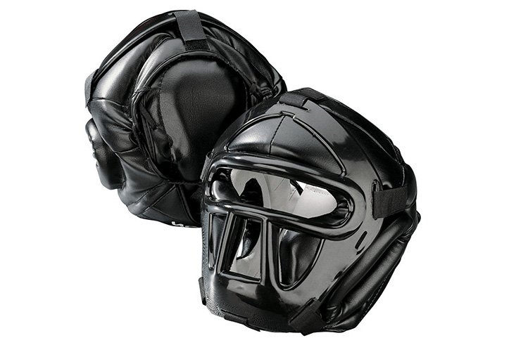 Black Line Head Guard with Top Pad, Kwon