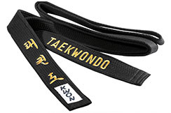 Black Taekwondo Belt - Embroidered, Kwon