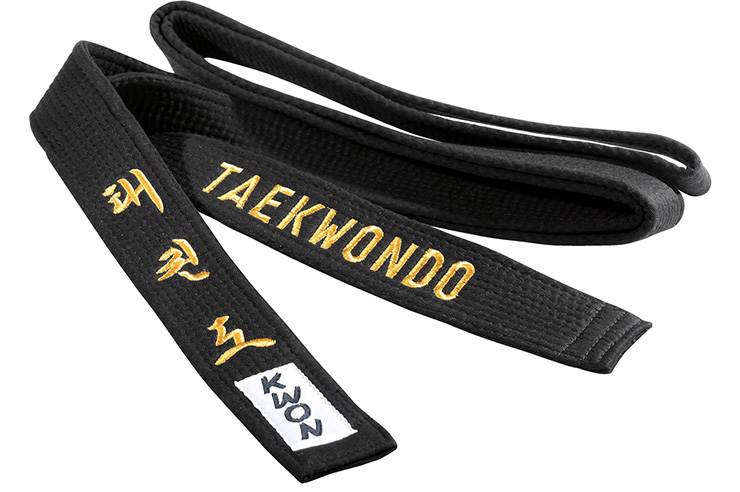 Cinturón Taekwondo Negro- Bordado, Kwon