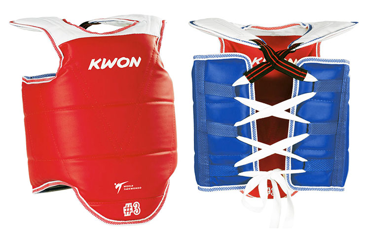 Coraza Competición Doble Corea WTF CE, Kwon