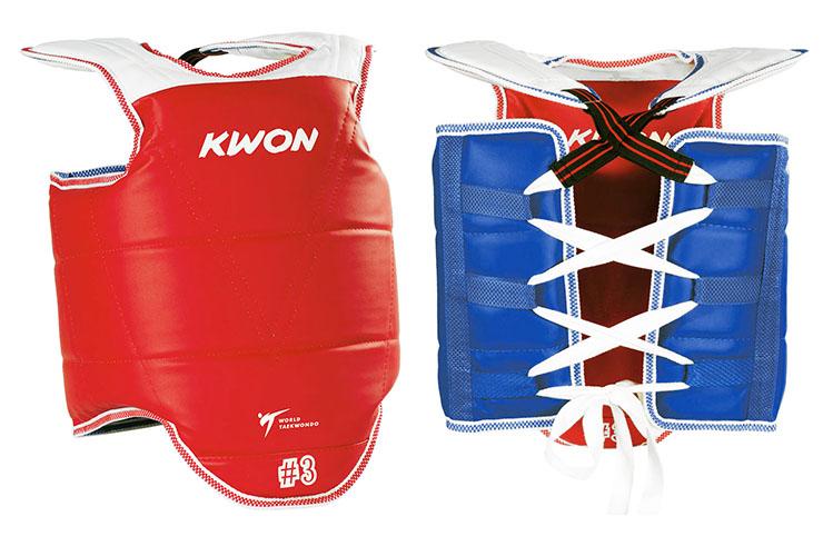 Plastron Taekwondo Réversible Style Coréen, WTF, Kwon