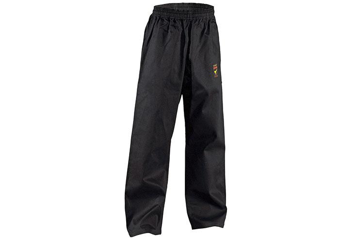 Pantalon de Karaté Noir - 9oz «Asia-Shiro», Kwon