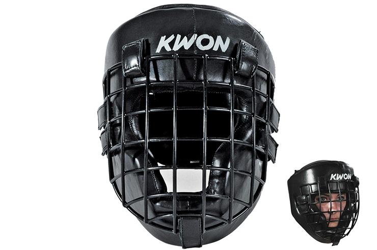 Casco con rejilla en hierro negro, Kwon