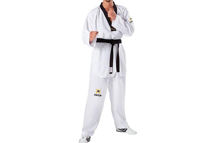 Dobok Taekwondo WTK, Col noir - Fightlite, Kwon