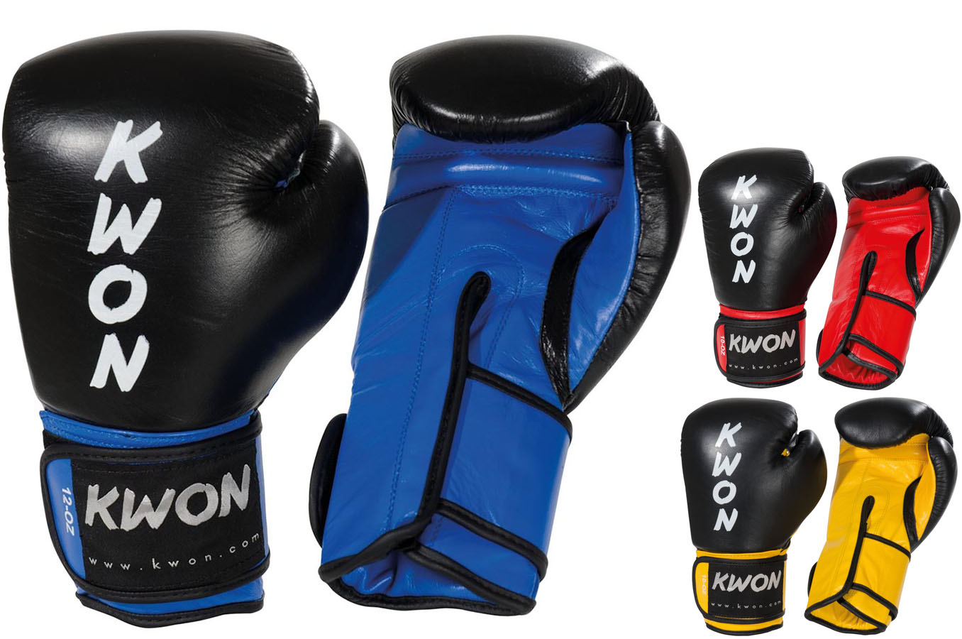 PRO COMBAT 12 OZ Professional Boxing Leather Boxing Gloves With Velcro Closure