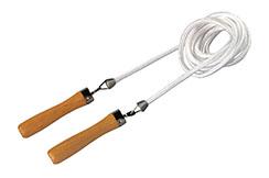 Rotating Nylon Jumping Rope & Wooden Handle, Danrho