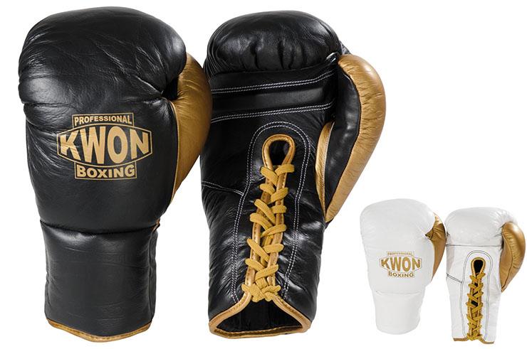 Gants de Boxe Pro - Cuir & Lacets, Kwon