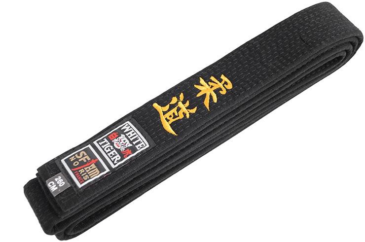 Embroidered Belt, Martial Arts - White Tiger, Noris