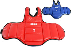 "Protective Reversible Karate Vest ""FFKarate"", Noris"