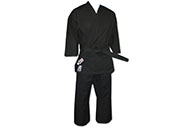 Kimono de Karaté Noir Compétition, 100% Coton, Noris