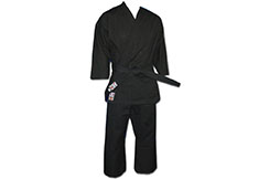 Competition Karate-Gi Noir, 100% Coton, Noris