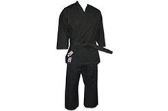 Kimono de Karate Negro Competición, 100% Algodón, Noris