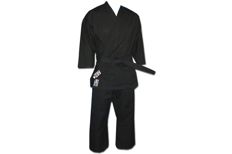Competition Karate-Gi Noir, 100% Coton, Noris