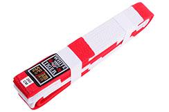 Cinturón de judo rojo y blanco - Tigre blanco, Noris