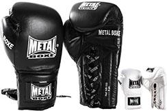 Gants Pro Cuir A Lacets ''MB530'', Metal Boxe