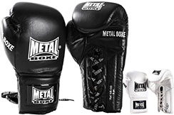Boxing Gloves, Leather - Lace-Up MB530, Metal Boxe