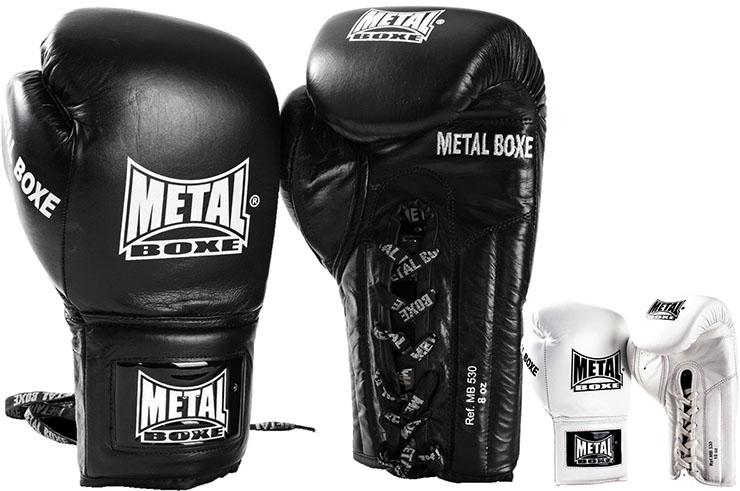 Guantes de Boxeo, Cuero - Cordones MB530, Metal Boxe