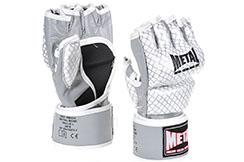 Guantes MMA Pro, Gama Alta, Cuero - Formación, Metal Boxe MB534