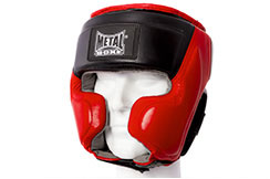 Casco semi integral, Cuero - MB386, Metal Boxe