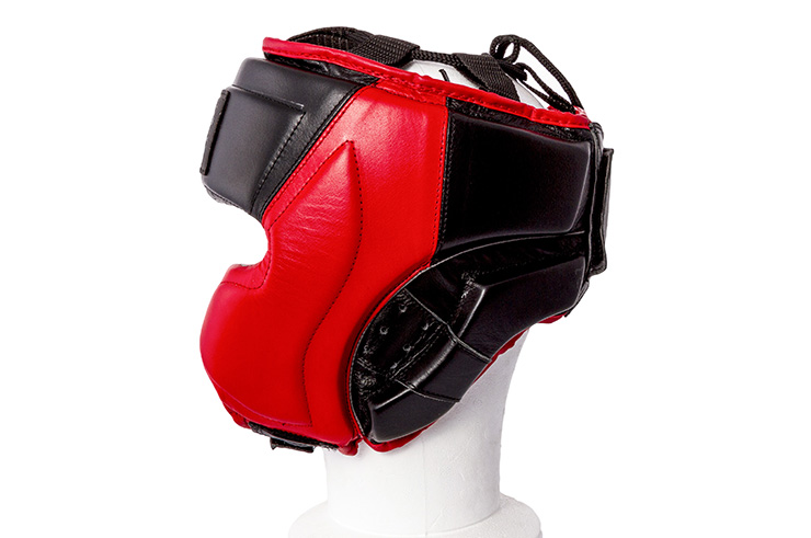 Head Guard, Semi-Integral, Leather - MB386, Metal Boxe