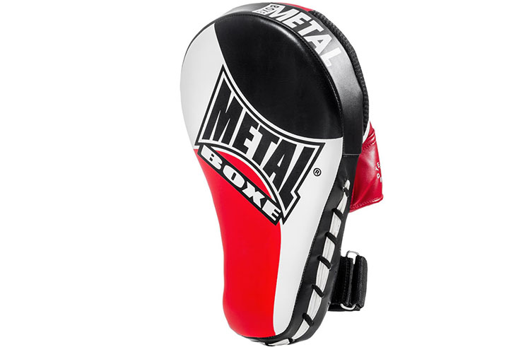Curved Focus Mitts - L, Metal Boxe MB216