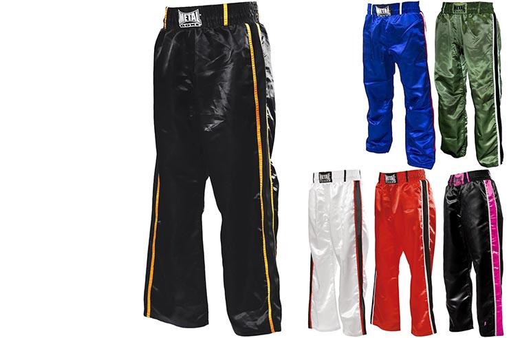 Pantalón Full Contacto, 2 bandas- MB55, Metal Boxe