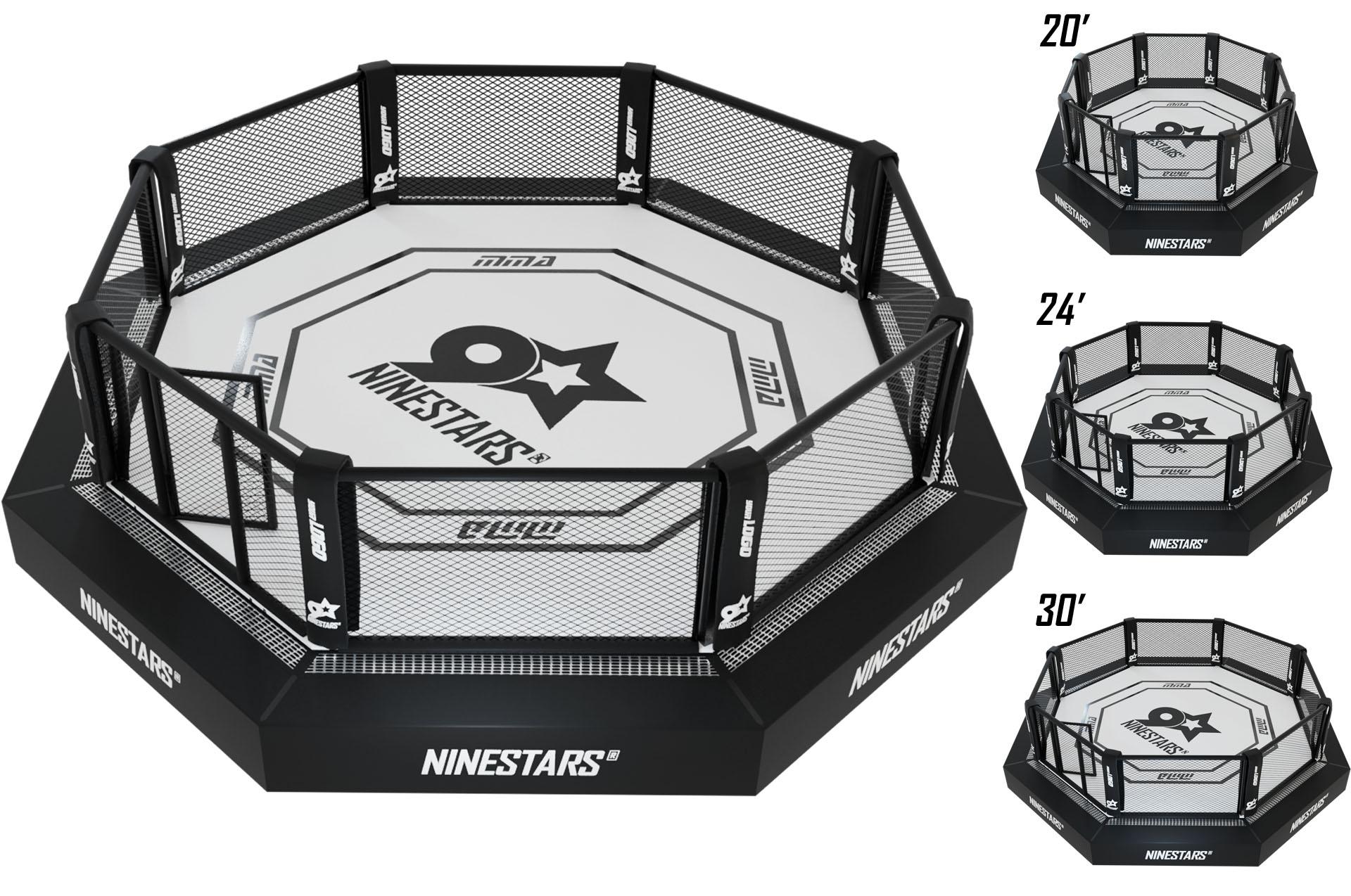 Cage MMA + Plateforme + Sidewalk