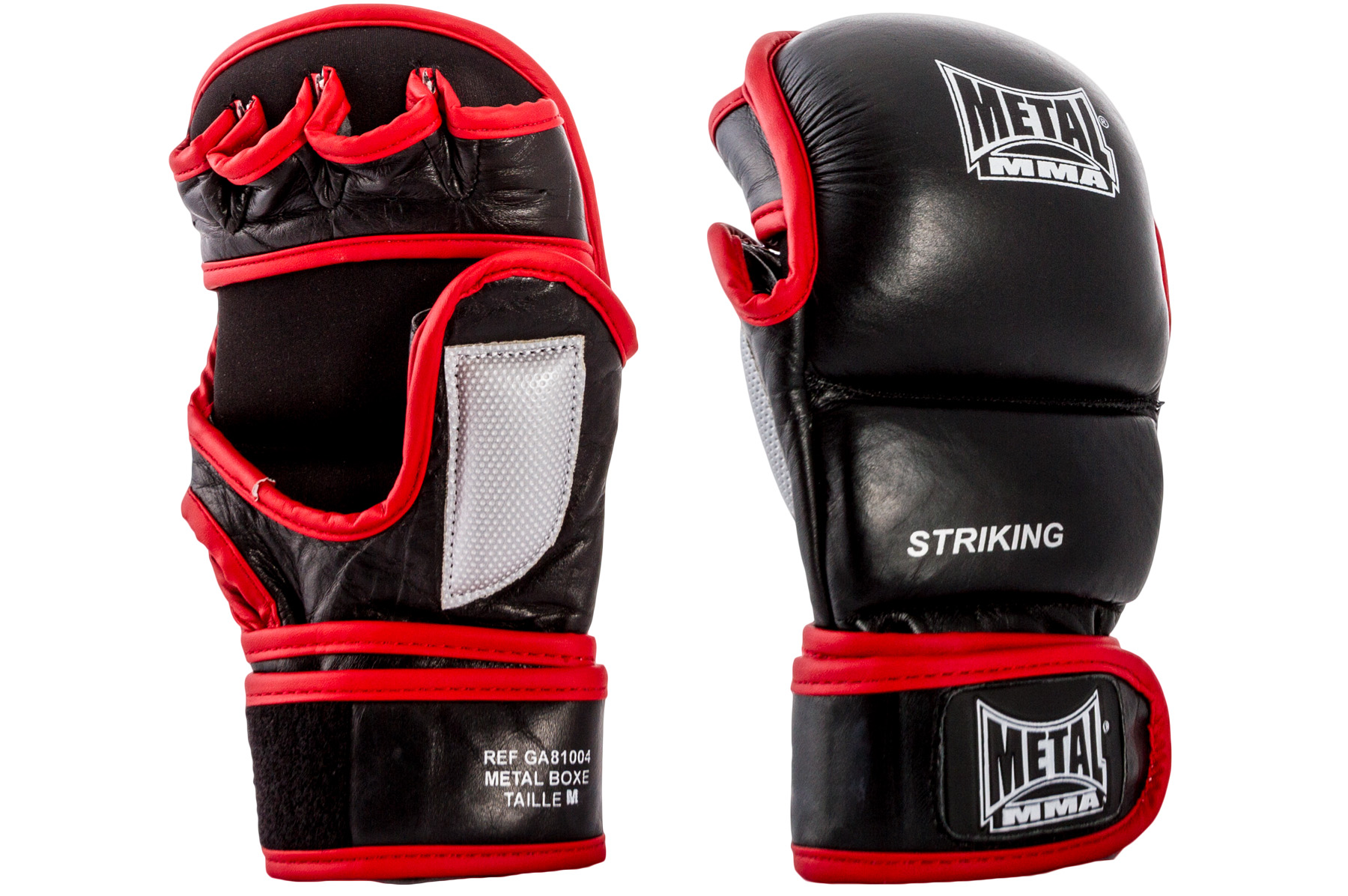 mma leather strike gloves metal boxe ga81004. Black Bedroom Furniture Sets. Home Design Ideas