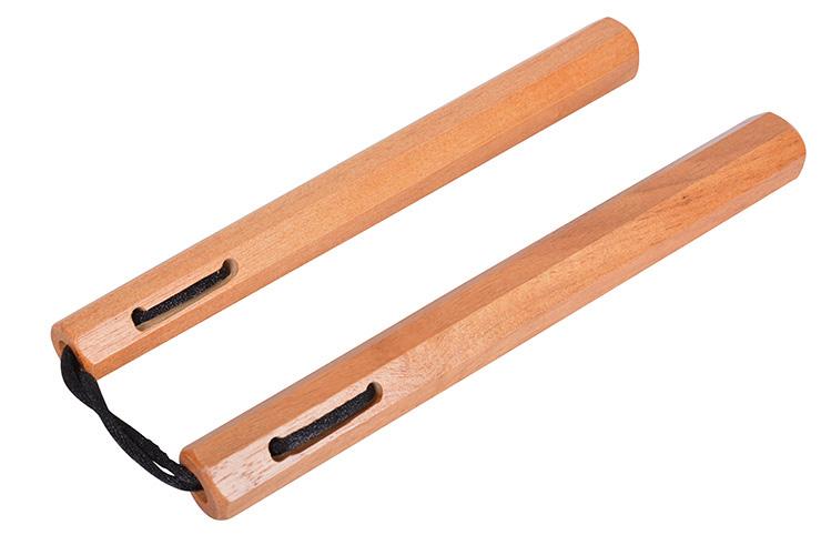 Nunchaku de Madera / Cuerda Natural Octogonal, Dojo Master ARC108