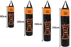 Sac de frappe, noir orange 120cm, MB3120, Métal boxe