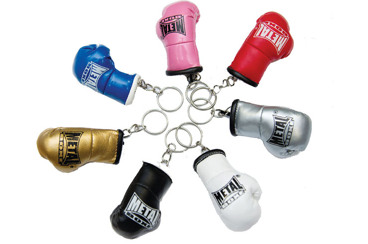 Mini-Glove Key Chain, Metal Boxe MB187 G