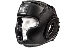 Full face helmet, Leather, HERACLES - MB535, Metal Boxe
