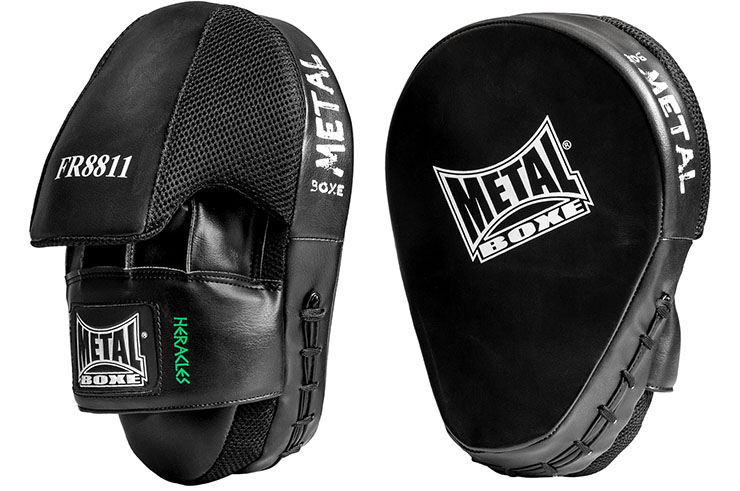 Focus mitts, Leather, Heracles - FR8811M, Metal Boxe