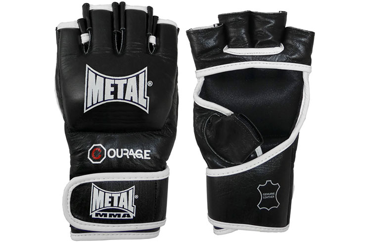 MMA leather gloves, Courage - GRGAN310N, Metal Boxe