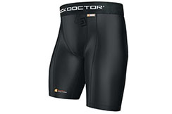 Core compression short for groinguard