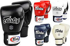 Thai Boxing Gloves, Training - Leather V1, Fairtex