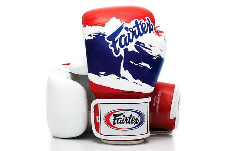 Gants de boxe thaï, Entraînement, Cuir - V1 Thaï Pride, Fairtex