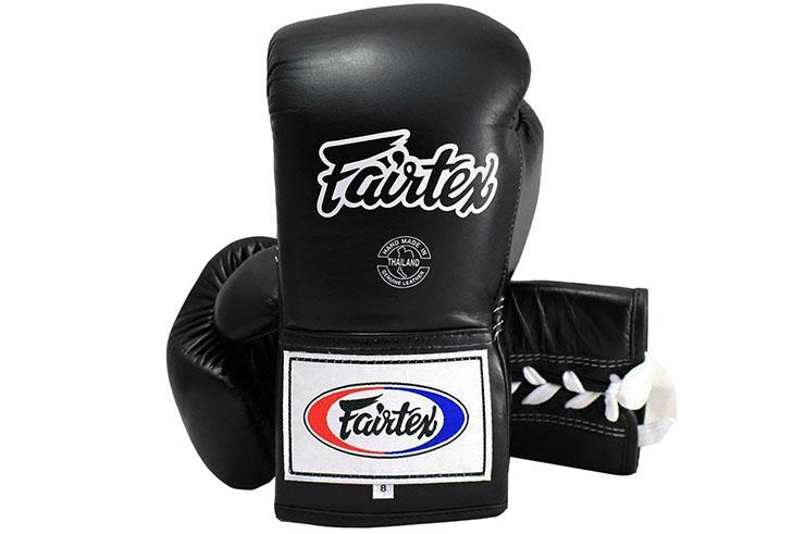 Guantes de Boxeo Pro con Cordones Thai ProTeam, Fairtex