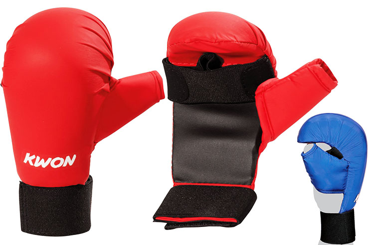 Karate Mitts WKF - with tumbs, Kwon