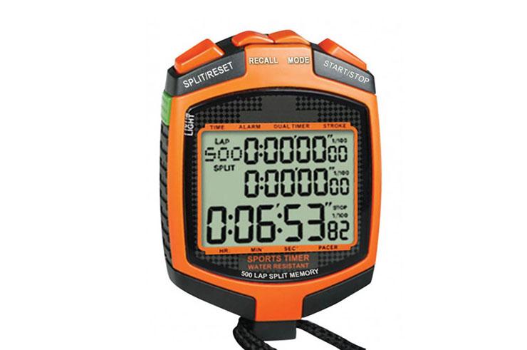Chronomètre échauffement - 3 lignes d'affichage, IHM