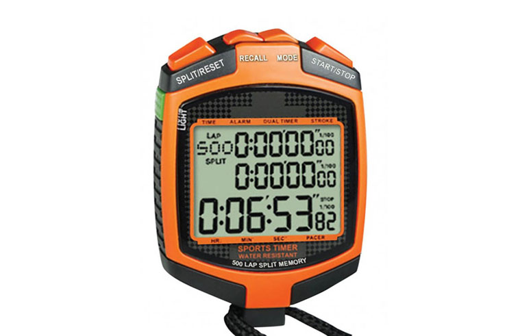 Stopwatch for warm-up - 3 Lines display, IHM