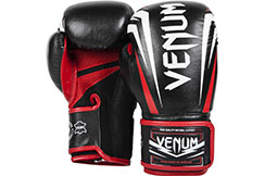 "Venum ""Sharp"" Boxing Gloves - Black/Ice/Red"