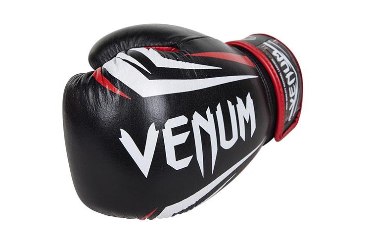 "Venum ""Sharp"" Boxing Gloves - Black/Ice/Red"