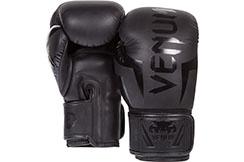 Gants de Boxe 12oz, Noir mat - Elite, Venum