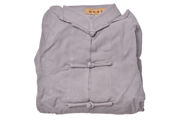 [Destock] Tai Chi Top, Viscose+Cotton - 145cm - Grey